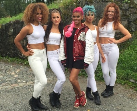Alexandra Joner with her dancers